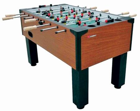 G01889W Gladiator Traditional Foosball Table with Integrated Cup Holders  Solid Wood Slide Scoring and 4 384966