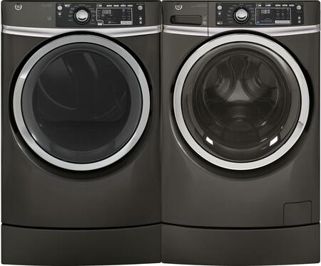 Diamond Grey Front Load Laundry Pair with GFW490RPKDG 28