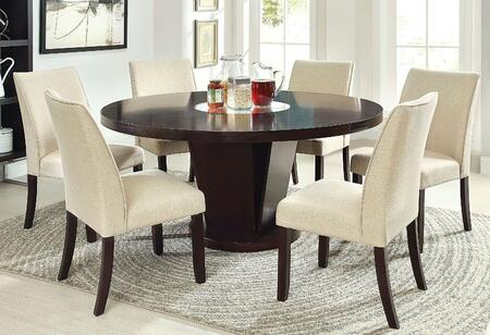 Cimma Collection CM3556TDT6SC 7-Piece Dining Room Set with 60