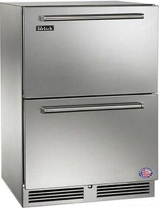 """HP24RO-3-5C 24"""" Signature Series Outdoor Drawer Refrigerator with 5.2 cu. ft. Capacity  RAPIDcool System  1000 BTU Commercial Grade Compressor and Classic"""