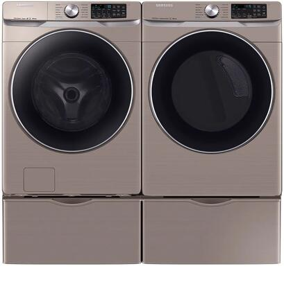Front Load Laundry Pair with WF45R6300AC 27