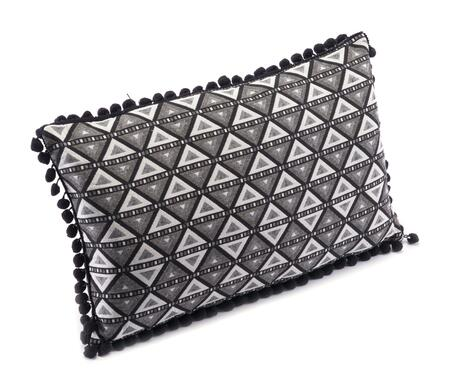 A11098 Triangles Pillow Black &