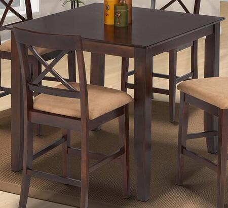 04-1712-012 Crosswinds Counter Height Dining Table with Tapered Legs  Contemporary Pub Style  Hardwood Solids and Veneers  in