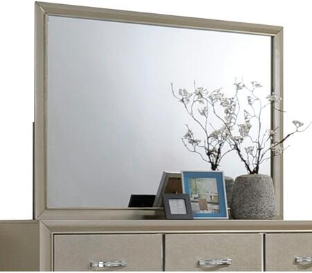 Carine Collection 2624445 inch  x 35 inch  Mirror with Rectangle Shape  Contemporary Styling and Solid Rubberwood Materials in Champagne