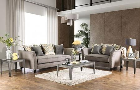 Chantal Collection SM2664-SL 2-Piece Living Room Set with Stationary Sofa and Loveseat in