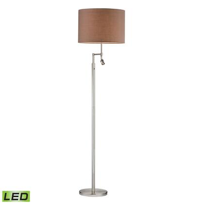 D2552-LED Beaufort LED Floor Lamp in Satin Nickel with Adjustable LED Reading thumbnail