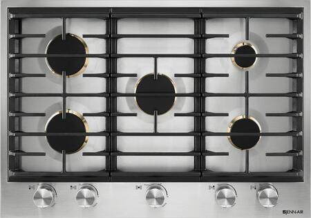 """JGC3530GS 30"""""""" Gas Cooktop with 5 Sealed Brass Burners  White LED Burner Indicator  Single Point Electronic Ignition and Flame-Sensing  Re-ignition  in"""" 810060"""
