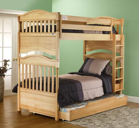 Imperial 4000N Contemporary Hand Crafted Bunk Bed With Solid Beech Wood Construction  Steel Bolt Re-Enforcements On Ladder  Slat Support System & In