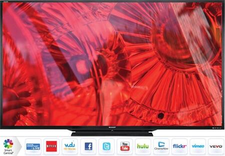 "AQUOS LC90LE745U 90"" LED Smart 3D TV With 1920 x 1080 Resolution Smart TV with Web Browser Full HD Active 3D Built-In Wi-Fi AquoMotion 240 & Full Array LED thumbnail"