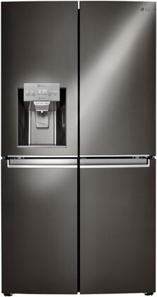 LG 29.9 Cu. Ft. Side-by-Side Refrigerator Black stainless steel LNXS30866D