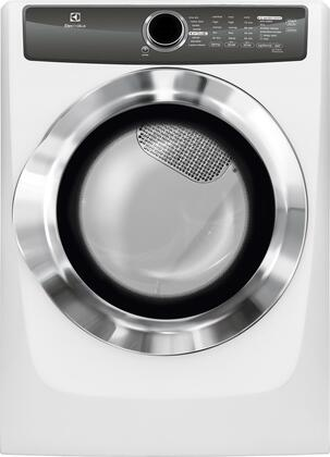 """EFME517SIW 27"""""""" Energy Star Front Load Electric Dryer with 8 cu. ft. Capacity  8 Dry Cycles  Steam Perfect Wrinkle Release Option and Reversible Door: Island"""" 683252"""