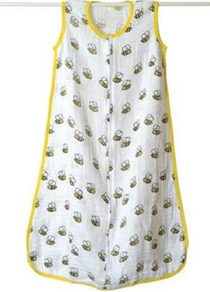 8048 Slumber Muslin Sleeping Bag Single Layer With 100% Cotton  Replaces Loose Blankets For A Safer Sleep & In Baby Bee
