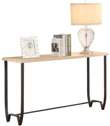 Isidore Collection 80412 47 inch  Sofa Table with Brown Sand Metal Tube Legs  Rectangular Shape and Paper Veneer Materials in Natural