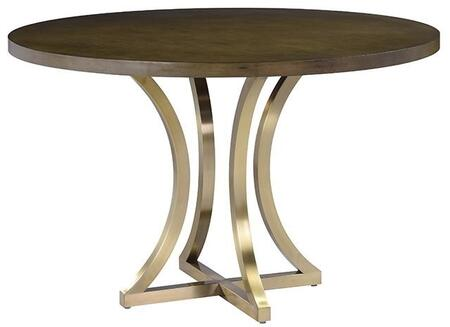 ACD2140304GC Iris Dining Table with Grey Cherry Top and Brushed Champagne Stainless Steel