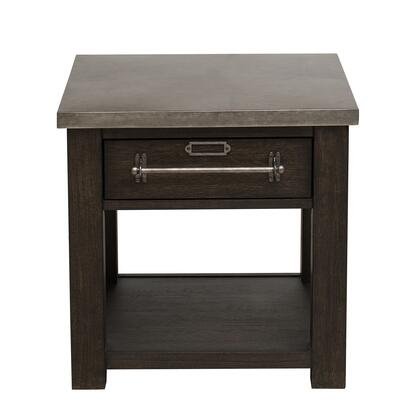 DS-D192-208-2 Metal Top Dark Oak Side