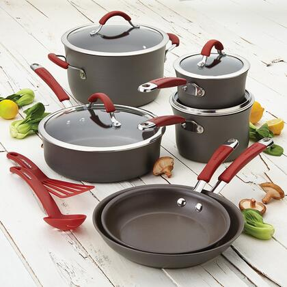 87630 12-Piece Cookware Set  Cranberry