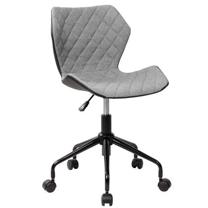 RTA-3237-GRY Deluxe Modern Office Armless Task Chair. Color
