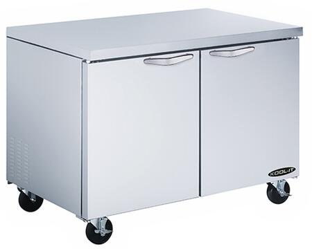 KUCF482 48 inch  Undercounter Freezer with 12.7 cu. ft. Capacity  2 Doors  4 Shelves  1/2 HP  in Stainless