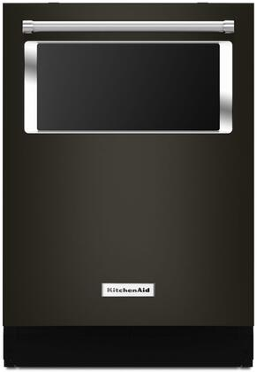 "KitchenAid 24"" Built-In Dishwasher Black stainless KDTM384EBS"