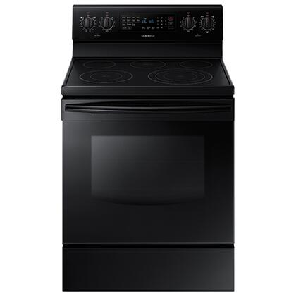 "NE59J7630SB 30"" 5.9 cu. ft. Freestanding Electric Range with  5 Smooth Top Electric Elements  Storage Drawer  True Convection Oven  Steamquick and Hot Surface"