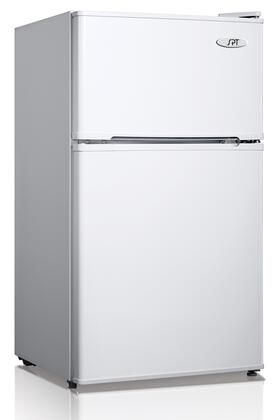 RF-354W 19 inch  Energy Star Double Door Compact Top Freezer Refrigerator with 3.5 Cu. Ft. Capacity  Adjustable Thermostat  Reversible Doors  Glass Shelf  and