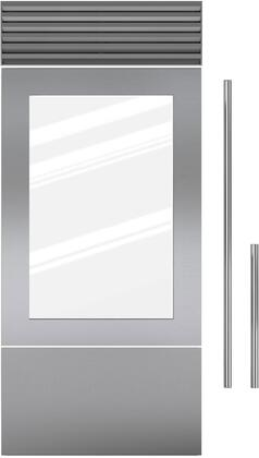 7030234 Door Panel Single Flush Inset - Stainless Steel with Tubular Handle