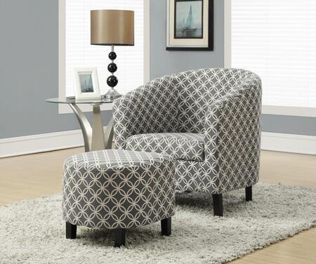 "I 8060 Accent Chair - 2pcs Set / Grey ""Circular"""