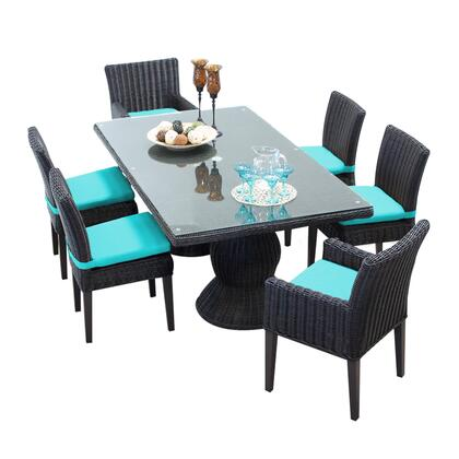 Venice-rectangle-kit-4adc2dcc-aruba Venice Rectangular Outdoor Patio Dining Table With With 4 Armless Chairs And 2 Chairs W/ Arms With 2 Covers: Wheat And