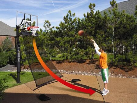 B2608W Basketball Return System for Free-Throw Practicing and Solo
