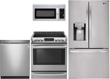 4 Piece Kitchen Appliance Package with LFXS26973S 36