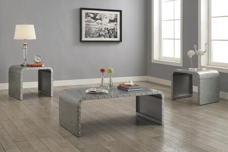 Ocassionals Table 704348CE 3 PC Living Room Table Sets with Coffee Table + 2 End Tables in Galvanized