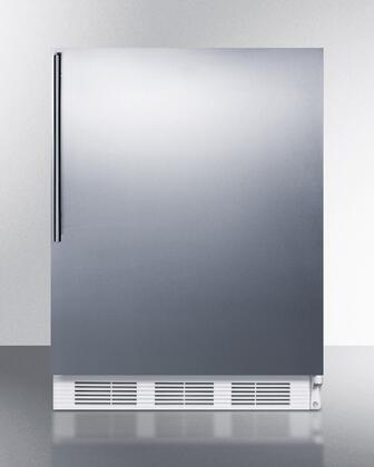 FF6BI7SSHVADA 24 inch  ADA Compliant Commercial All-Refrigerator with Automatic Defrost  Adjustable Shelves  Fruit and Vegetable Crisper  and Interior Light:
