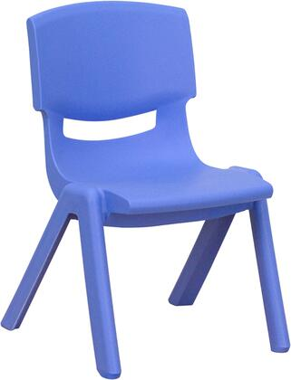 YU-YCX-003-BLUE-GG Blue Plastic Stackable School Chair with 10.5'' Seat