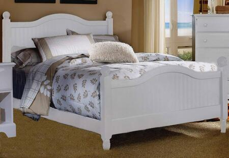 Carolina Cottage Collection 417940-3-419400 Full Size Cottage Bed with Cottage Headboard & Footboard and Wood Rails with Slats in