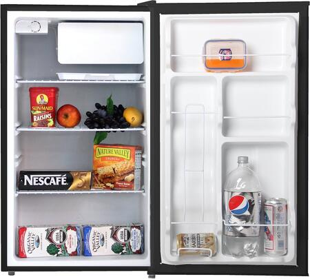 WHS160R 4.4 CF Compact Single Reversible Door Refrigerator with Special Can-holder  Water Holding Tray and 3 Adjustable