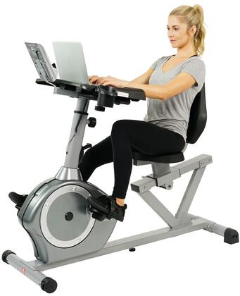 SF-RBD4703 Magnetic Recumbent Desk Exercise Bike with Digital Monitor  Adjustable Resistance  Cushioned Seat  Water Bottle Holder and Patented Easy Seat