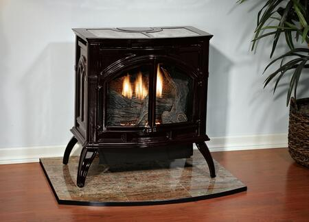 VFD-30-CC30F-NG Heritage Series 28 inch  Medium Size 25 000 BTU Vent-Free Cast Iron Stove  Millivolt with Standing Pilot Ignition  Natural Gas  Matte