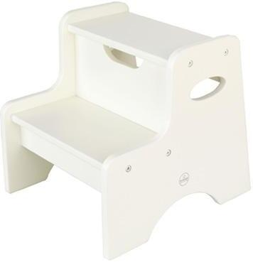 KidKraft Two Step Stool for Kids in White