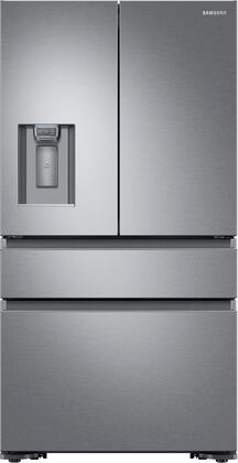 Samsung RF23M8070SR 36 Inch Freestanding Counter Depth 4 Door French Door Refrigerator with 22.7 cu. ft. Total Capacity
