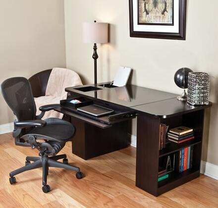 OD9489-59NX01 Chancellor Desk with Full Extension Drawer with Steel Ball Bearing Glides  Drawer with Integrated Storage Dividers and Pop-up Storage Compartment