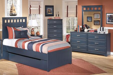 Leo Twin Bedroom Set with Panel Bed  Dresser and Mirror in