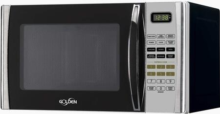 GM09SS 0.9 cu. ft. 900 Watt Microwave Oven With 900W Microwave Oven  10 Power Cooking Levels  Preprogrammed Cooking  Automatic Turn Table & In Stainless