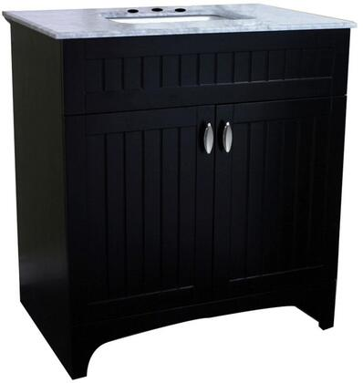 7615-ES-WH 32 inch  Single Sink Vanity in Espresso with Marble Top in