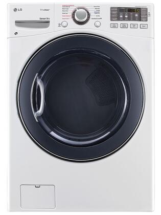 DLEX3570W 7.4 Cu. Ft. Ultra Capacity Front Load Steam Electric Dryer with Alcosta Steel Drum  LoDecibel Quiet Operation  NFC Tag On  Sensor Dry System 358585