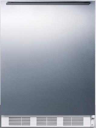 FF6BISSHHADA 24 inch  ADA Compliant Compact Refrigerator with 5.5 cu. ft. Capacity  Adjustable Shelves  Crisper  Door Storage and Interior Lighting: Stainless Steel