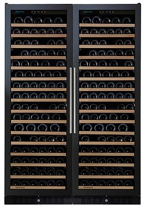 237870367 24 inch  N'FINITY PRO Double L RED Wine Cellar with 332 Bottles Capacity  Cool Blue LED Lighting  Digital Climate Control  and Odor Free  in