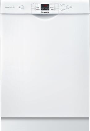 """Bosch 24"""" Front Control Built-In Dishwasher with Stainless Steel Tub White SHEM3AY52N"""