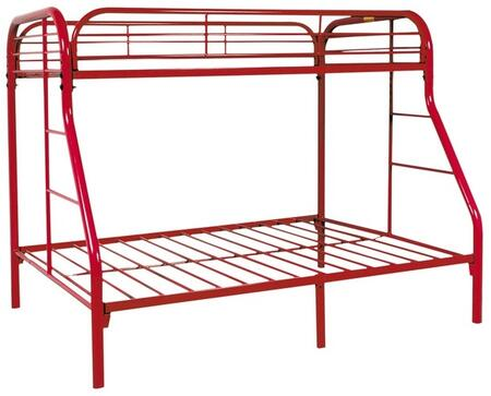 Sade Collection 9701-R Twin Over Full Bunk Bed with 2