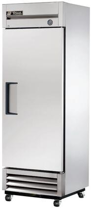 T-19F 27 inch  Reach-In Solid Door Freezer with 19 cu. ft. Capacity  Heavy-Duty PVC Coated Shelves  Positive Seal Self-Closing Door  and Automatic Defrost  in