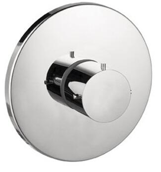 10715821 Axor Starck Thermostatic Valve Trim with Metal Knob Handle: Brushed